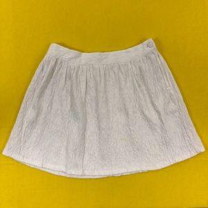 Forever 21 White Textured A Line Skirt